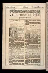 1 John Chapter 1, Original 1611 KJV