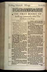 1 Kings Chapter 1, Original 1611 KJV