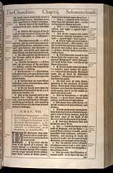 1 Kings Chapter 7, Original 1611 KJV