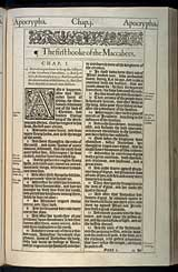 1 Maccabees Chapter 1, Original 1611 KJV