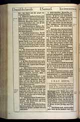 1 Samuel Chapter 27, Original 1611 KJV