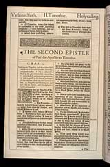 2 Timothy Chapter 1, Original 1611 KJV
