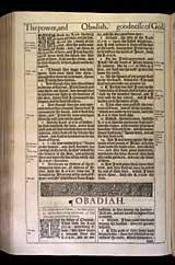 Obadiah Chapter 1, Original 1611 KJV