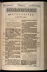 Ecclesiastes Chapter 1, Original 1611 KJV