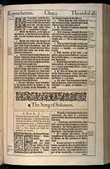 Ecclesiastes Chapter 12, Original 1611 KJV