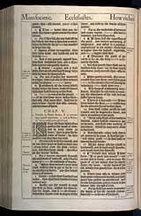 Ecclesiastes Chapter 5, Original 1611 KJV