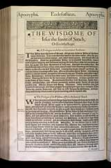 Ecclesiasticus Chapter 1, Original 1611 KJV