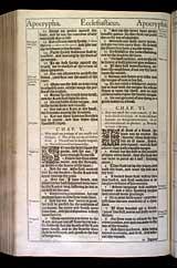 Ecclesiasticus Chapter 5, Original 1611 KJV