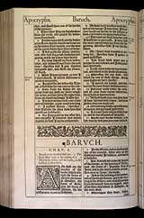 Baruch Chapter 1, Original 1611 KJV
