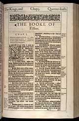 Esther Chapter 1, Original 1611 KJV