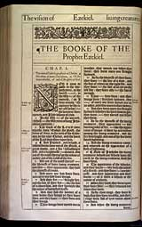 Ezekiel Chapter 1, Original 1611 KJV