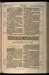 Zephaniah Chapter 1, Original 1611 KJV