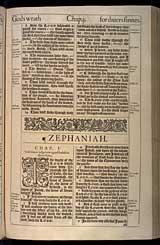 Zephaniah Chapter 1, Original 1611 KJV