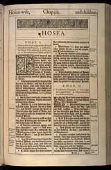 Hosea Chapter 1, Original 1611 KJV