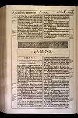 Amos Chapter 1, Original 1611 KJV
