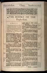Isaiah Chapter 1, Original 1611 KJV