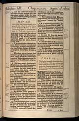 Isaiah Chapter 21, Original 1611 KJV