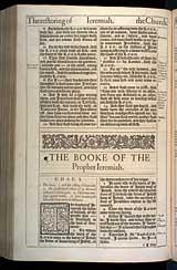 Jeremiah Chapter 1, Original 1611 KJV