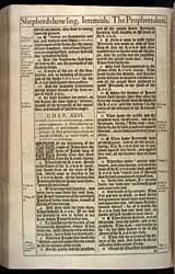 Jeremiah Chapter 26, Original 1611 KJV