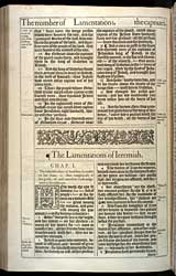 Lamentations Chapter 1, Original 1611 KJV