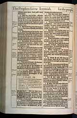 Jeremiah Chapter 9, Original 1611 KJV