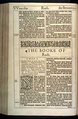 Ruth Chapter 1, Original 1611 KJV