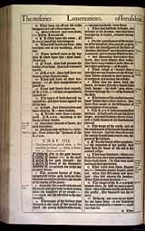 Lamentations Chapter 4, Original 1611 KJV