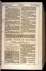 Numbers Chapter 1, Original 1611 KJV