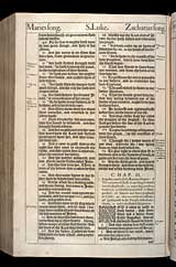 Luke Chapter 2, Original 1611 KJV
