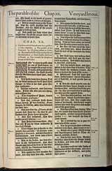 Luke Chapter 20, Original 1611 KJV