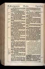 Luke Chapter 7, Original 1611 KJV