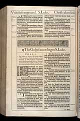 Luke Chapter 1, Original 1611 KJV