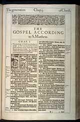 Matthew Chapter 1, Original 1611 KJV