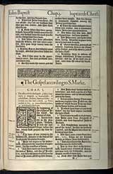 Mark Chapter 1, Original 1611 KJV