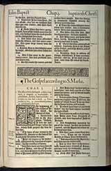 Mark Chapter 1, Original 1611 KJV