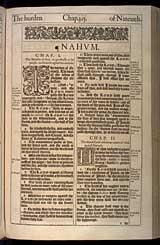 Nahum Chapter 1, Original 1611 KJV