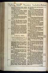 Numbers Chapter 22, Original 1611 KJV