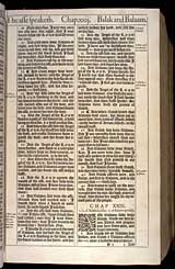 Numbers Chapter 23, Original 1611 KJV