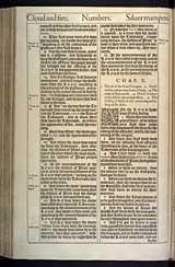 Numbers Chapter 10, Original 1611 KJV