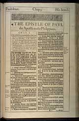 Philippians Chapter 1, Original 1611 KJV