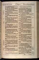Proverbs Chapter 5, Original 1611 KJV