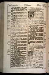 Psalms Chapter 138, Original 1611 KJV