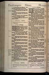 Psalms Chapter 27, Original 1611 KJV