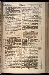 Psalms Chapter 66, Original 1611 KJV