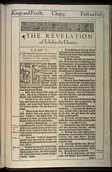 Revelation Chapter 1, Original 1611 KJV