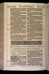Bel and the Dragon Chapter 1, Original 1611 KJV