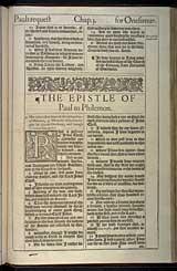 Philemon Chapter 1, Original 1611 KJV