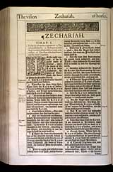Zechariah Chapter 1, Original 1611 KJV