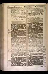 Zechariah Chapter 13, Original 1611 KJV