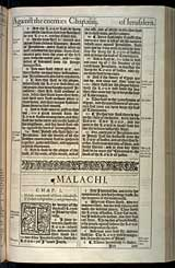 Malachi Chapter 1, Original 1611 KJV